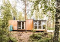 two design students build off grid cabin in remote finnish Build Off Grid Cabin