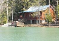 twos company secluded cabin small lake fishing updated Lake Cabin Rentals Near Me