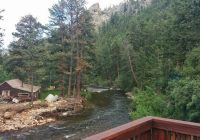 view from cabin 8 picture of rustic river cabins estes Cabins Estes Park Co