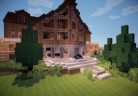 wisconsin log cabin vacation home minecraft map Minecraft Cabin House