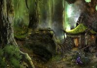 woodland cabin fantasy abstract background wallpapers on Cabin Fantasy